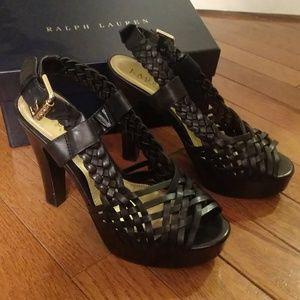 Ralph Lauren braided heels